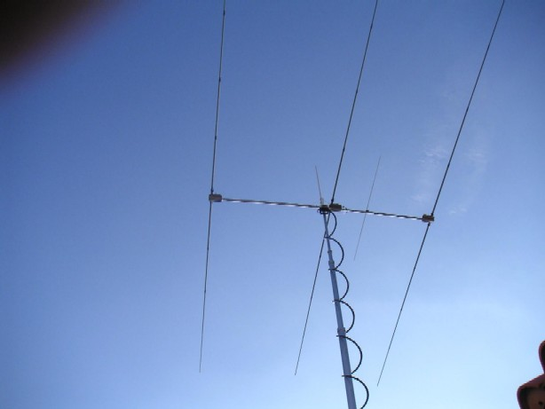 N1DL antenna mast (pneumatic) extended
